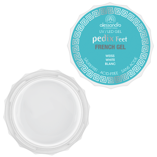 alessandro Pedix Feet UV/LED French Gel White valge geel prantsuse pediküüriks