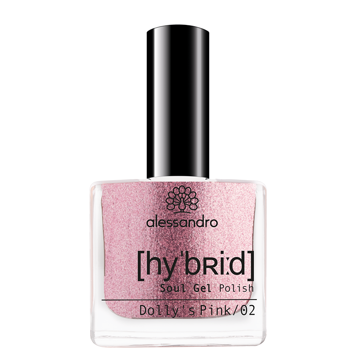 Alessandro Hybrid Soul Gel Polish Dolly's Pink - hübriidlakk, 8ml