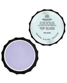 alessandro Top Gloss Gel Pro White UV-pealisgeel 15g