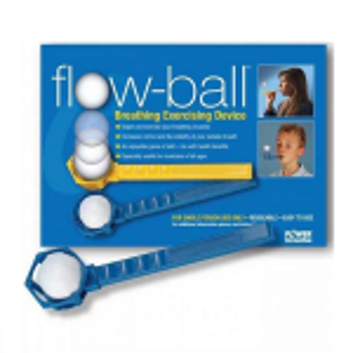 POWERbreathe Flow-ball Breathing Exercising Device - abivahend hingamisharjutusteks (kollane)